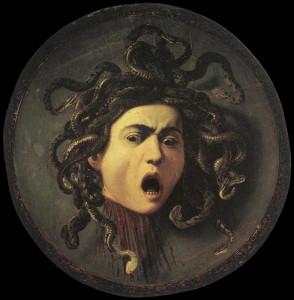медуза Горгона от мастера ужасов Караваджо